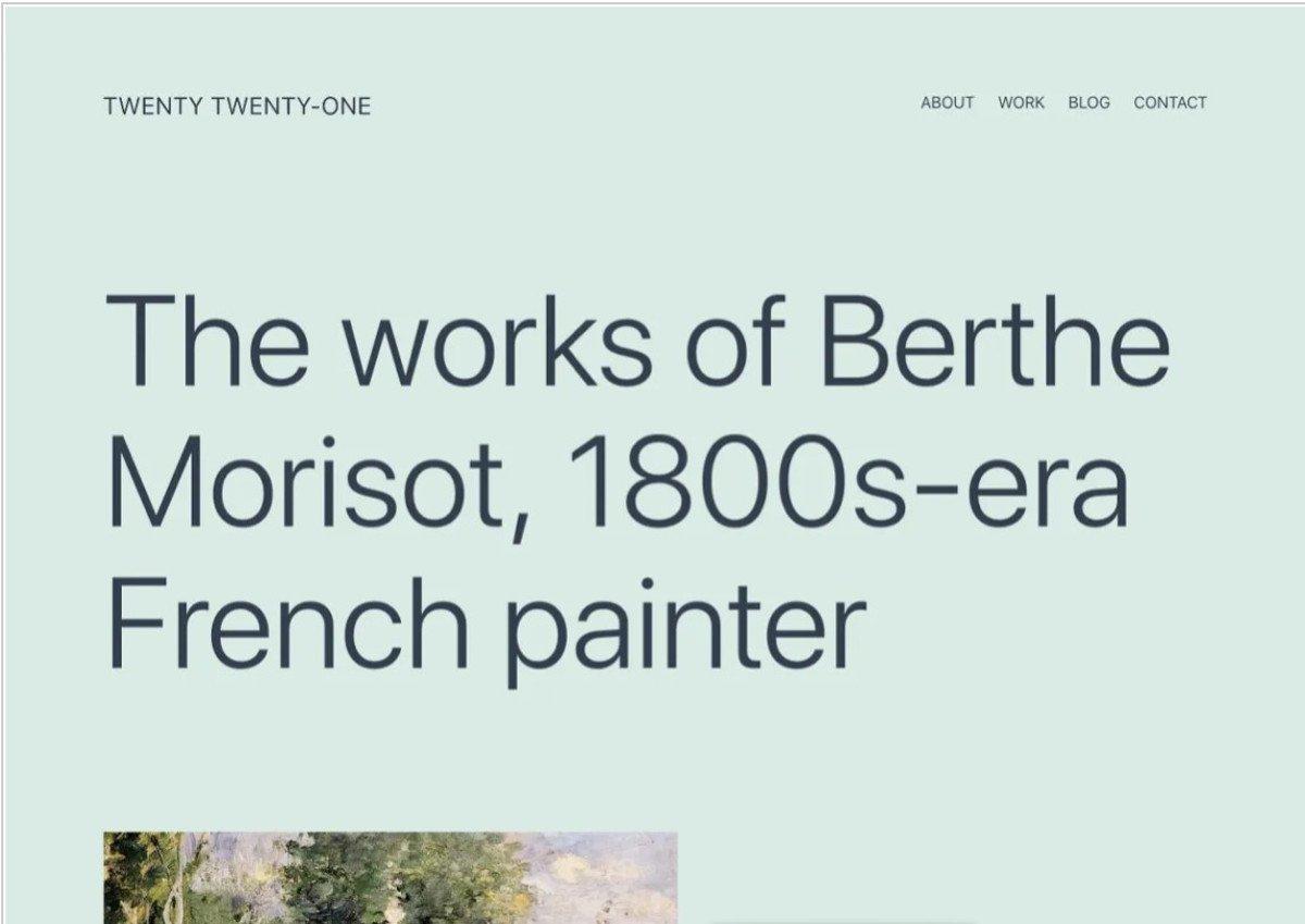 WordPress Die besten kostenlosen Themes für 2021 – Abbildung – Twenty Twenty-One