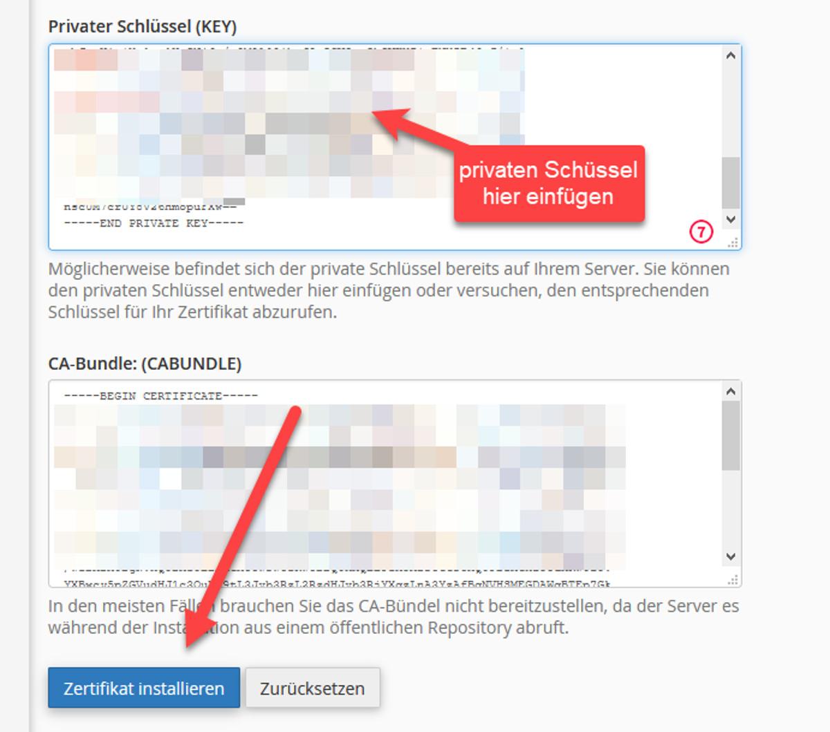Abbildung10 – Let's Encrypt Zertifikate generieren – Zertifikat aktivieren