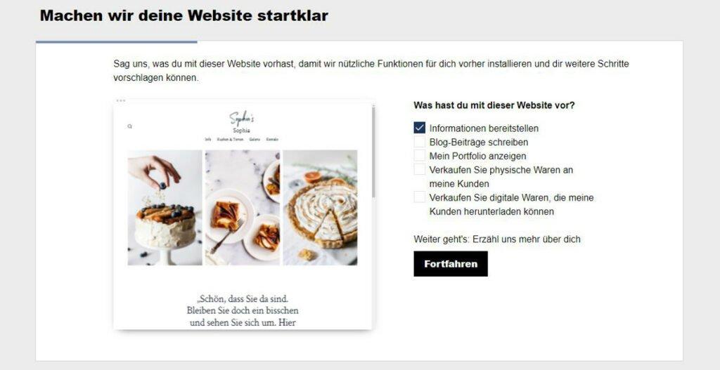 WordPress-Installation - Abbildung 2: Webseite individualisieren