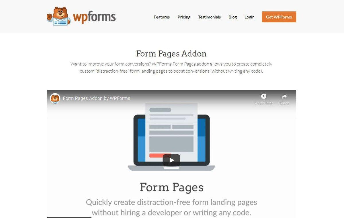 Die besten WordPress-Plugins für Landingpages – Form Pages by WPForms