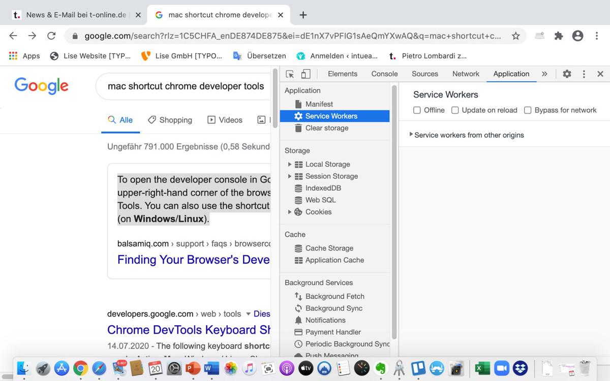 Cache löschen in Chrome – Abbildung 4: Optionen in den DevTools