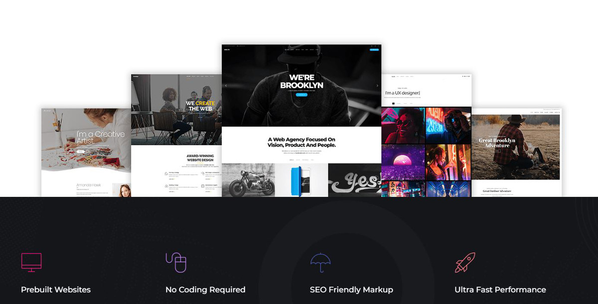 Abbildung - One-Page WordPress-Themes – Brooklyn