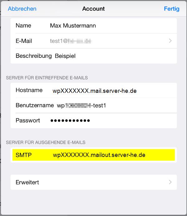 E-Mail Adresse in Iphone oder Ipad einrichten