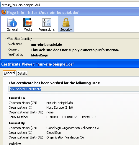Unterschiedliche Typen von SSL-Zertifikaten