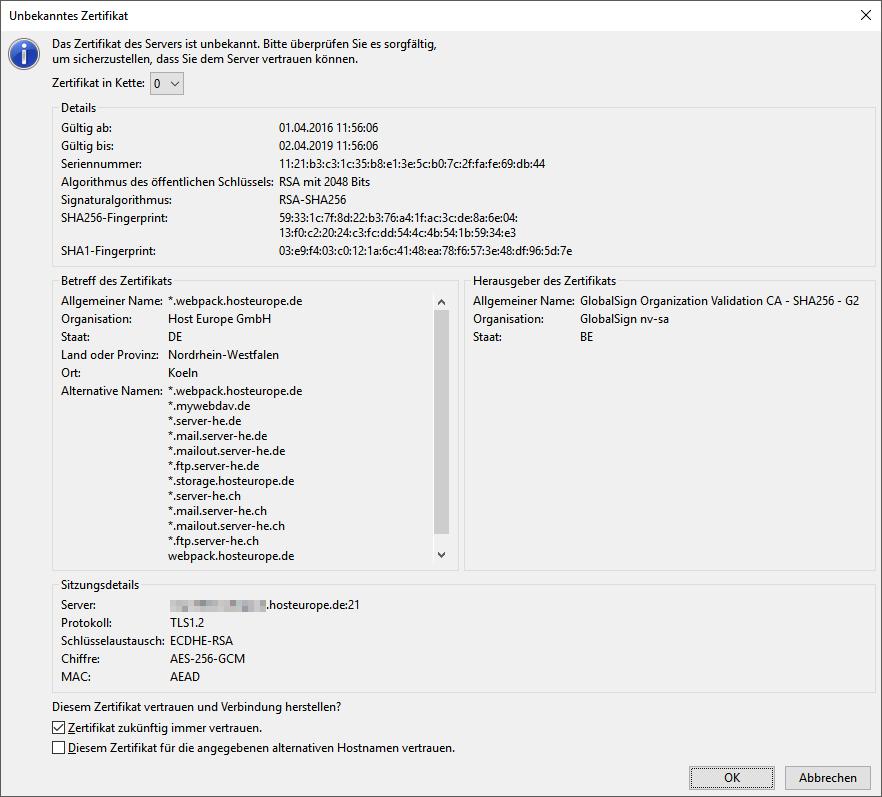Wie konfiguriere ich FileZilla? | Host Europe